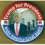 Trump 1D - Trump for President Make America Great Again Campaign Button