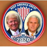 Trump 24D - Keep America Great Trump Pence  2020 Campaign Button