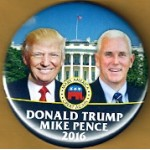 R10G - Donald Trump Mike Pence 2016 Make America Great Again Campaign Button