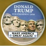 Trump 2R - Donald Trump For President 2016 Make America Great Again Campaign Button