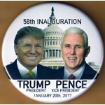 Trump 5K - 58th Inauguration  Trump President Pence Vice President January 20th, 2017  Campaign Button