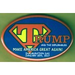 Trump 8K - Trump And The Deplorables Make America Great Again! Inauguration Day January 20th, 2017 Campaign Button