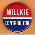 Willkie 11J - Willkie Contributor Campaign Button