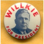Willkie 3D - Willkie For President Campaign Button