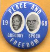 Gregory Spock 1968 Campaign Button