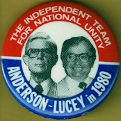 Anderson Lucey 1980 campaign button.