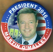 Martin O'Malley 2016 campaign button.