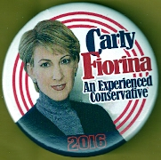 Carly Fiorina 2016 campaign button.