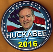 Mike Huckabee 2016 campaign button.