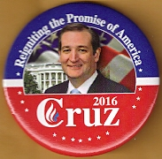 Ted Cruz 2016 campaign button.