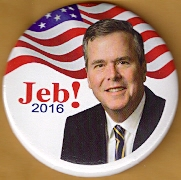Jeb Bush 2016 campaign button.