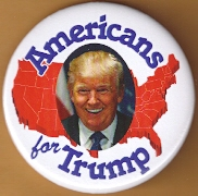 Donald Trump 2016 campaign button.