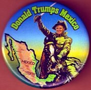 Trump for president campaign button.