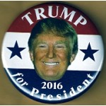 Trump 1A - Trump for President 2016 Campaign Button