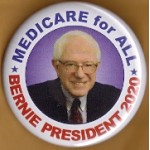 D2020  7A  - Medicare for All Bernie President 2020  Campaign Button