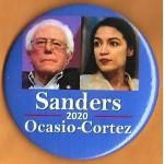 Sanders  8B  - Sanders  Ocasio - Cortez 2020  Campaign Button