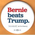 Sanders  5E  - Bernie  Beats Trump.  Campaign Button