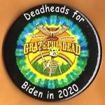 Biden  9D  -  Deadheads for Biden in 2020 Campaign Button