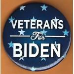 Biden 8E  - Veterans For  Biden Campaign Button