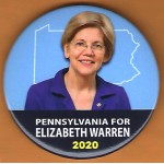 Warren  2D - Pennsylvania Elizabeth Warren 2020  Campaign Button