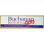 3rd Party 19K - Buchanan Reform  Bumpersticker