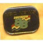 AD 14A - NBC News Decision 88 Lapel Pin