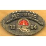 AD 2A  - AFC On NBC Twentieth Anniversary 1984 Belt Buckle