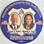 Biden 21A  -   Inauguration Day January 20 , 2021 Joseph R. Biden President Kamala D.  Harris Vice President   6 Inch Campaign Button