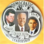 D2020  7P  - Democratic Leadership Kennedy Obama Biden 2020  Campaign Button