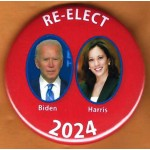D2024 1A  -  RE-ELECT Biden  Harris 2024   Campaign Button