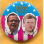 Bush 21B - Bush Quayle 92 Campaign Button