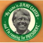 "Carter 28H - ""My name is Carter - and I'm running for President."" Campaign Button"