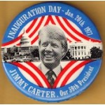Carter 32D -  Inauguration Day – Jan. 20th 1977 Jimmy Carter , Our 39th President Campaign Button