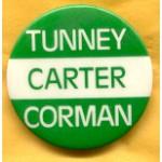 Carter 4C - Tunney Carter Corman Campaign Button