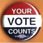 Cause 15E  - Your Vote Counts Campaign Button