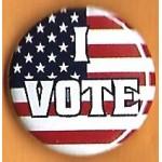 Cause 7K  - I Vote Campaign Button