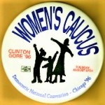Clinton 37B - Women's Caucus Clinton Gore '96 Campaign Button