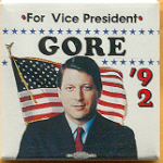 Gore 29H - For Vice President Gore '92 Campaign Button