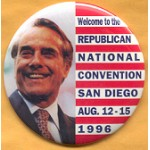 Dole 19B - Welcome to the Republican National Convention San Diego  Campaign Button
