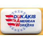 Dukakis 23A - Dukakis for American Workers Campaign Button