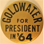 Goldwater 11J - Goldwater For President In '64 Campaign Button
