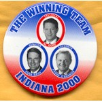 Gore 27B - The Winning Team Indiana 2000 President Al Gore Button