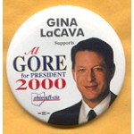 Gore 36A  - Al Gore for President 2000  Campaign Button