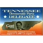 Gore 37D -Tennessee Democratic Party Delegate Gore 2000 Campaign Button
