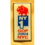G.W. Bush 18D - NY1 GOP 2004 NYC Lapel Pin