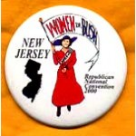 G.W. Bush 33 - New Jersey Women for Bush Republican National Convention Campaign Button
