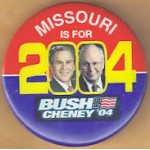 G. W. Bush 37B - Missouri Is For Bush Cheney '04 Campaign Button