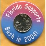 G.W. Bush 43A - Florida Supports Bush in 2004!  Campaign Button