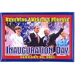 G.W. Bush 4G - Renewing America's Purpose Inauguration Day January 20, 2001 Campaign Button