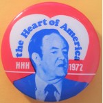HHH 7Q - the Heart of America HHH 1972 Campaign Button